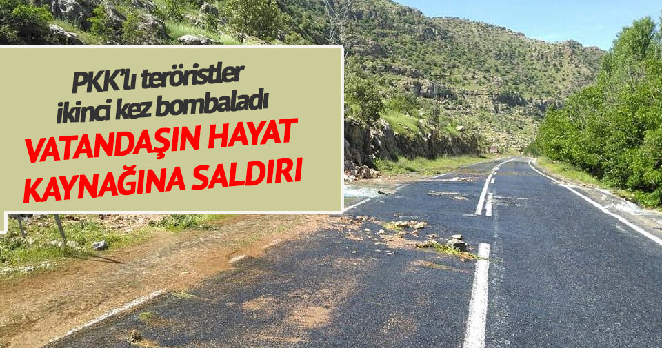Nusaybin ve Kızıltepe içme suyu şebekesine bombalı saldırı