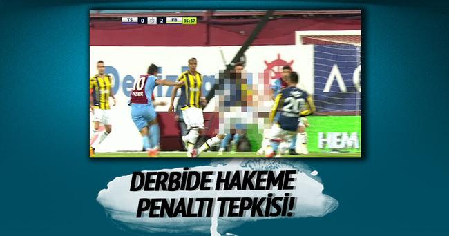 Hakeme penaltı tepkisi