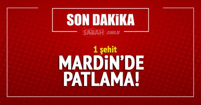 Mardin'de patlama: 1 şehit
