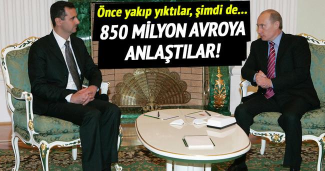 Suriye ile Rusya'dan 850 milyon avroluk anlaşma!