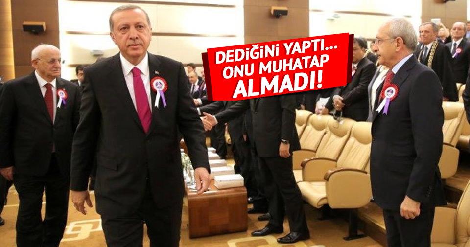 Cumhurbaşkanı Erdoğan, Kılıçdaroğlu'na selam bile vermedi!