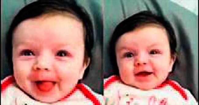 10 haftalık bebek 'merhaba' dedi