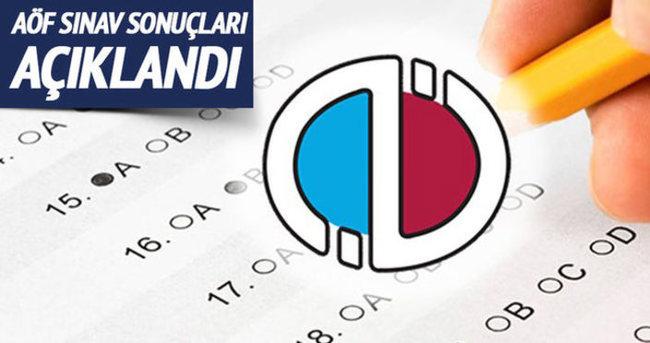 AÖF sınav sonuçları açıklandı. Sonuçları öğrenmek için tıklayın!