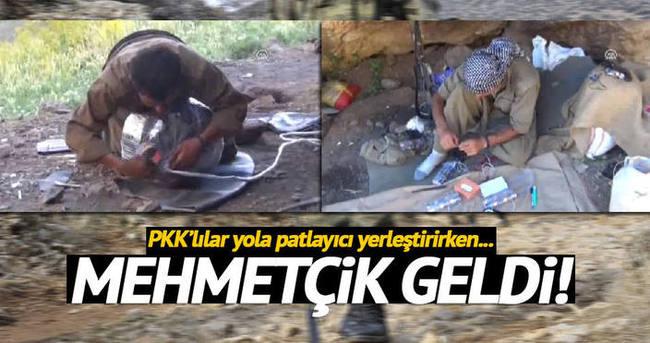 Yola patlayıcıyı döşemeye çalışan PKK'lı öldürüldü!