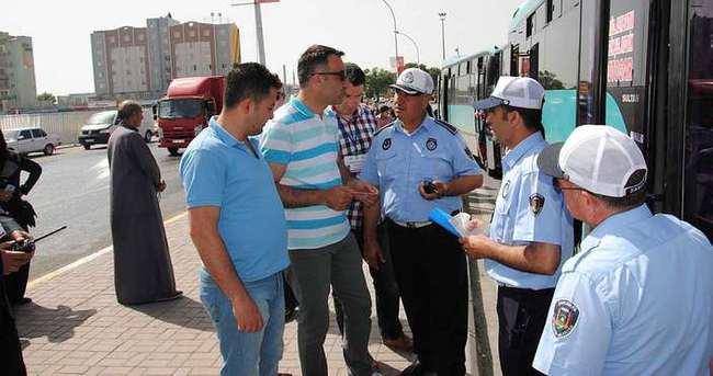 Ankara zabıtası Şanlıurfa'da denetime katıldı