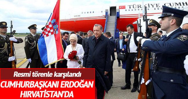 Cumhurbaşkanı Erdoğan, Hırvatistan'da
