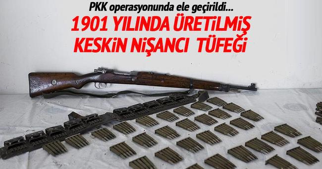 Yüksekova'da 115 yıllık keskin nişancı tüfeği ele geçirildi