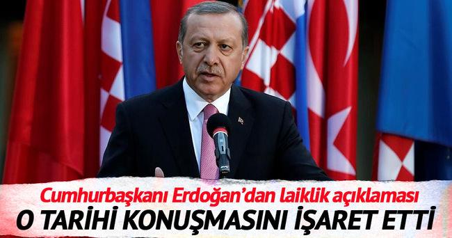 İşte Erdoğan'ın işaret ettiği Mısır konuşması