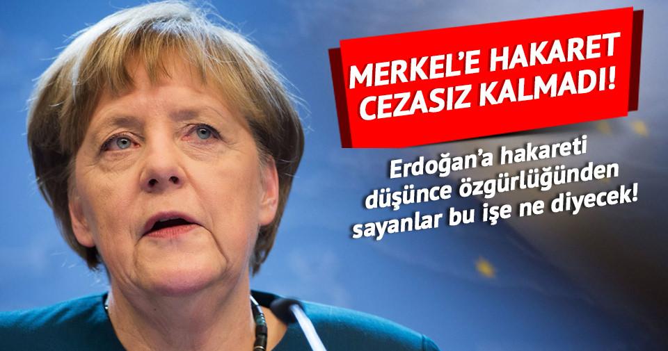 Merkel'e Facebook'tan hakaret cezasız kalmadı