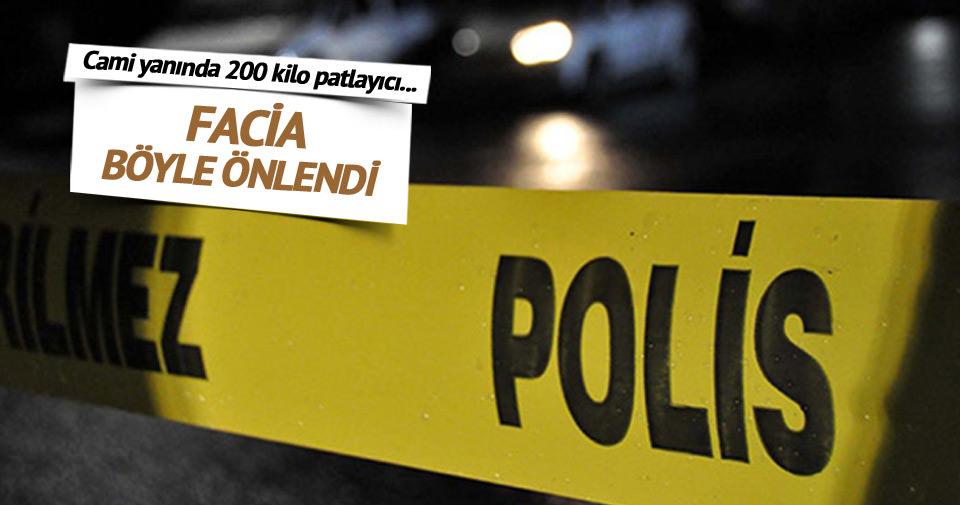 Lice'deki bir cami yanında 200 kilo patlayıcı bulundu