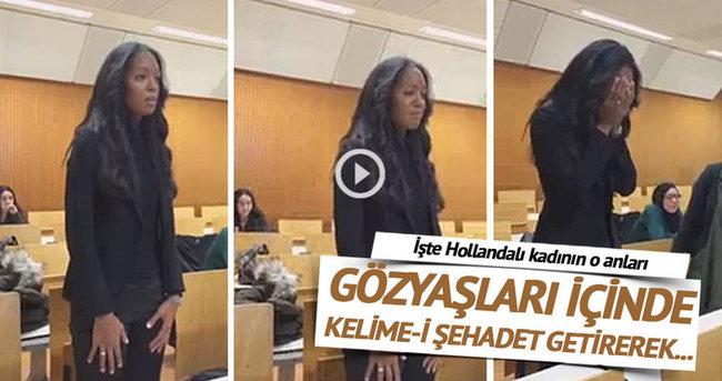 Hollandalı kadın gözyaşları içinde Müslüman oldu