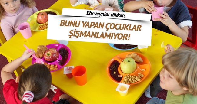 Kahvaltı yapan çocuklar şişmanlamıyor