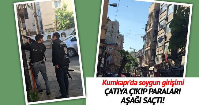 Kumkapı'da banka soygunu girişimi