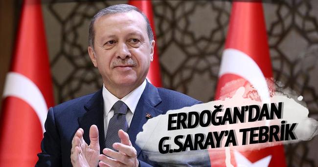 Erdoğan'dan Galatasaray'a tebrik