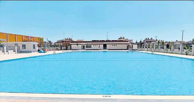 Yüzme havuzu Kepez'e yakıştı