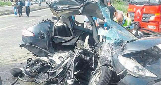 9 aylık evli çift kazada can verdi