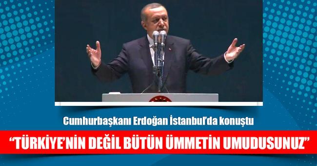 Cumhurbaşkanı Erdoğan İmam Hatiplilerle buluştu