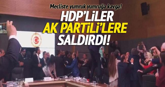 HDP'liler AK Partili'lere saldırdı!
