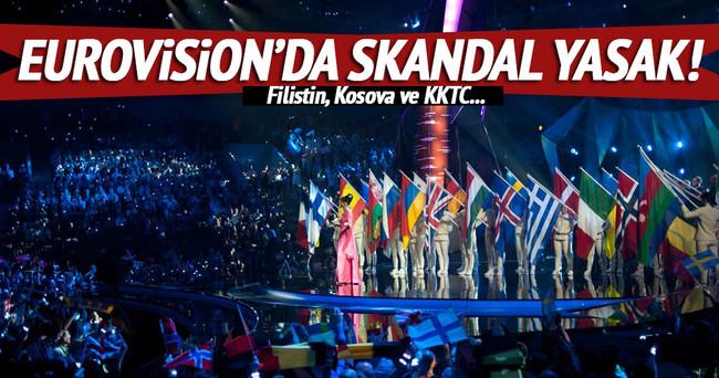 FİLİSTİN, KOSOVA VE KKTC BAYRAĞINA YASAK!