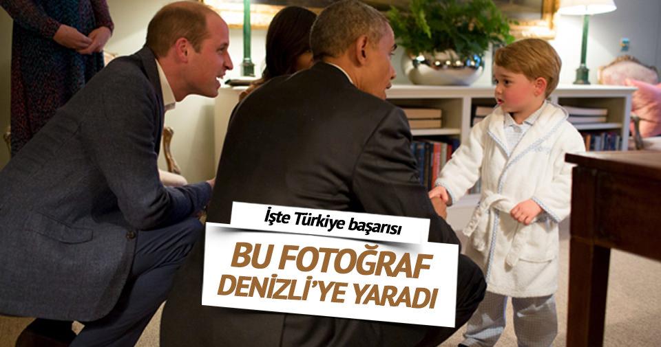 Prens George'un Obama'yı karşıladığı bornoz Denizli'den