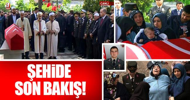 Cumhurbaşkanı Erdoğan şehit cenazesinde