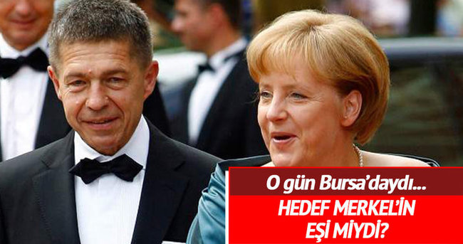 Bursa saldırısının hedefi Merkel'in eşi miydi?