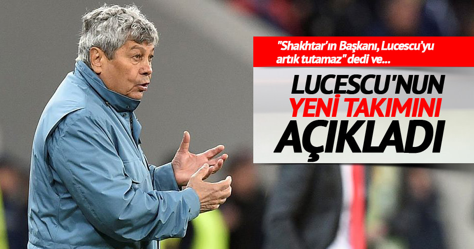 Lucescu'nun yeni takımını açıkladı