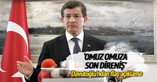 Başbakan Davutoğlu: Devlet idaresini milletimizle birlikte omuz omuza yapacağız