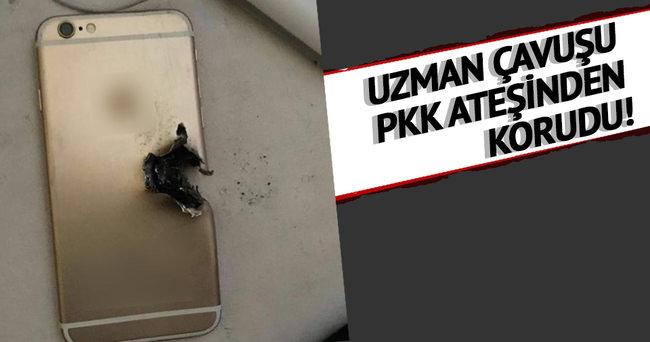 Uzman çavuşu PKK kurşunundan cep telefonu korudu