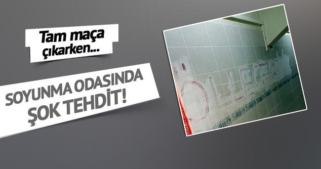 İNEGÖLSPOR'A SOYUNMA ODASINDA TEHDİT!