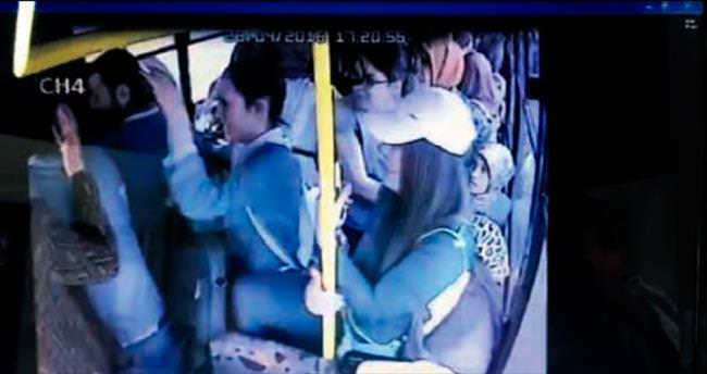 Otobüs sapığına kadın dayağı