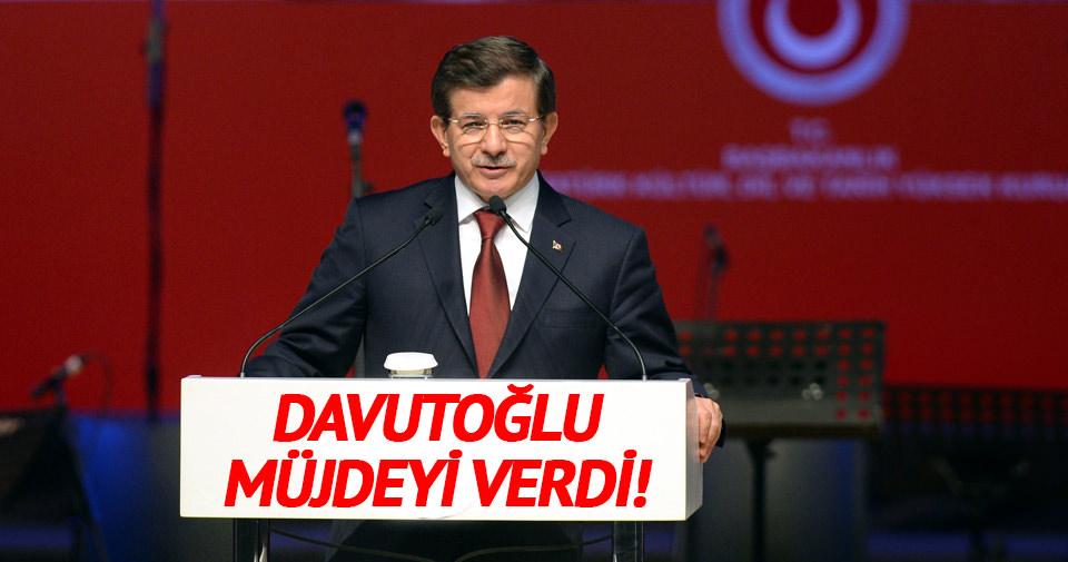Davutoğlu müjdeyi verdi!
