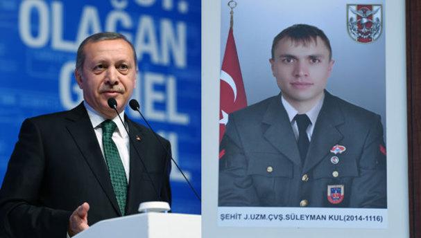 Cumhurbaşkanı Erdoğan'dan şehit ailesine ev