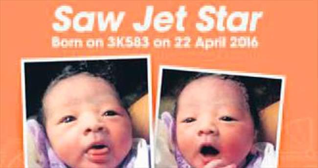 İçinde doğduğu uçağın adını aldı