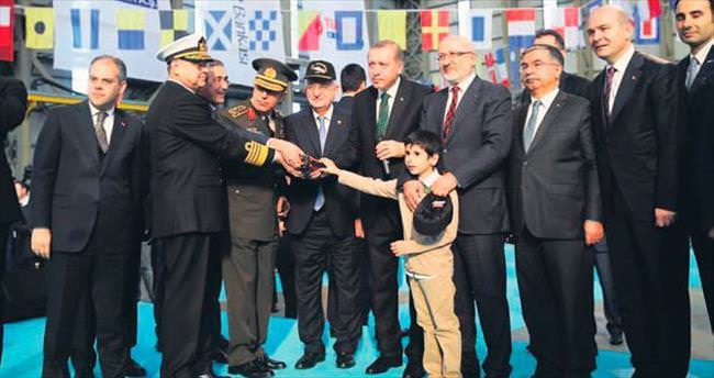 Türkiye'nin en büyük savaş gemisi için ilk kaynak