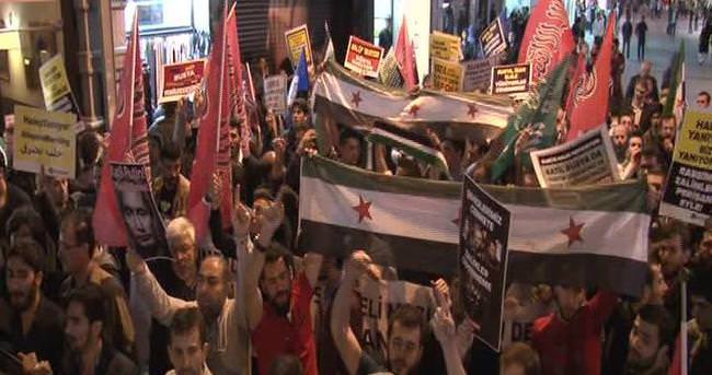 Özgür-Der Rusya'nın Halep'e saldırılarını protesto etti