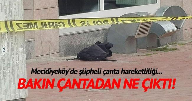 Mecidiyeköy'de şüpheli çanta hareketliliği!