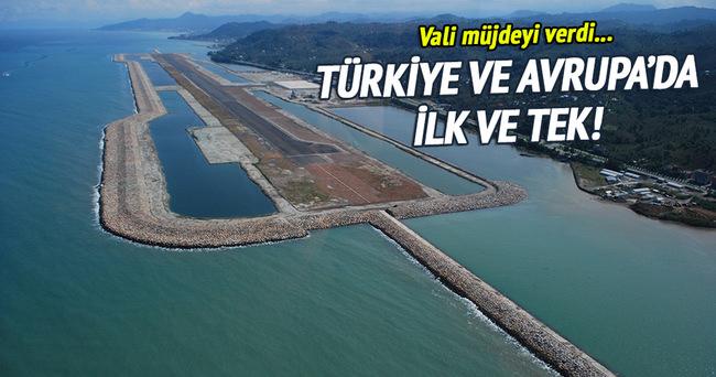 Denizdeki havalimanından yurtdışı uçuşları başlıyor!