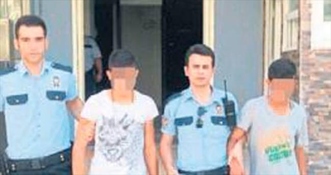 17 yaşındaki hırsızlık şüphelileri tutuklandı