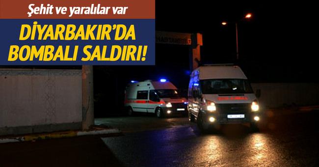Diyarbakır'da jandarma karakoluna bombalı saldırı!