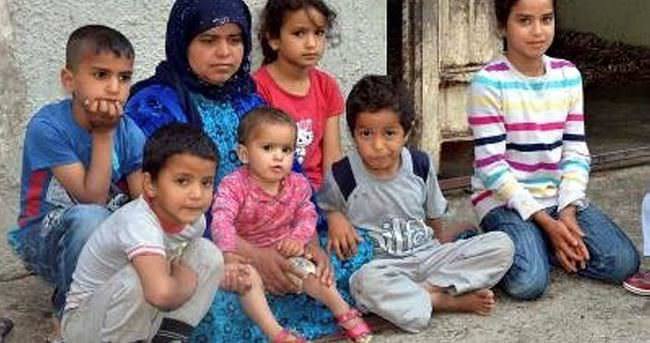 Kocası cezaevine girince 9 çocukla ortada kaldı