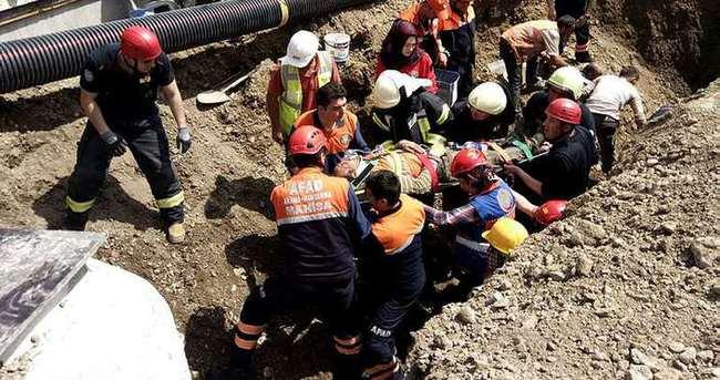 Hastane inşaatında göçük