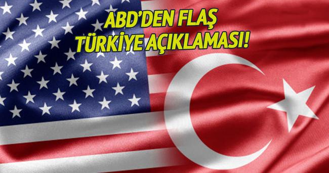 ABD'den flaş Türkiye açıklaması!