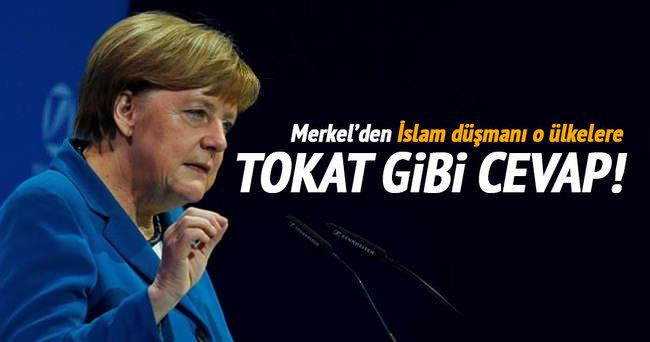 Merkel'den o ülkelere tokat gibi cevap!
