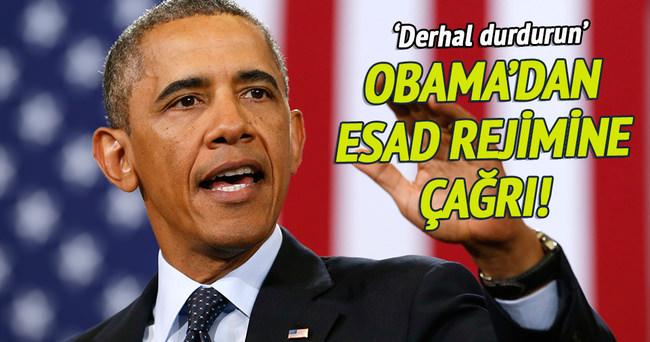 Obama'dan Esad rejimine çağrı!