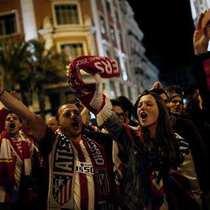 Atletico Madrid taraftarının Şampiyonlar Ligi finali sevinci