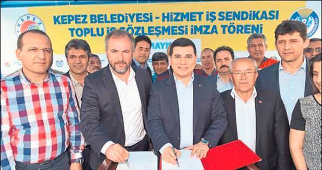 Kepez'de toplu sözleşme günü