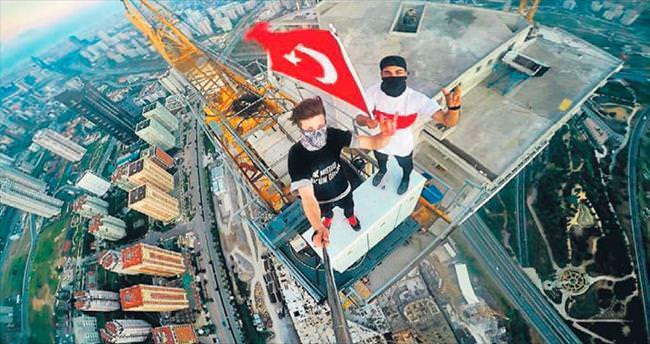 315 metrede çılgın selfie