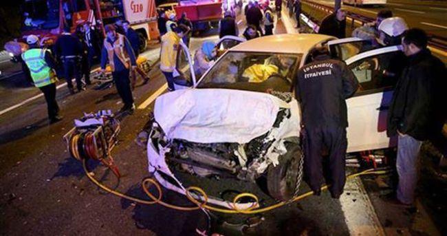 TEM'de FSM yolunu kilitleyen kaza