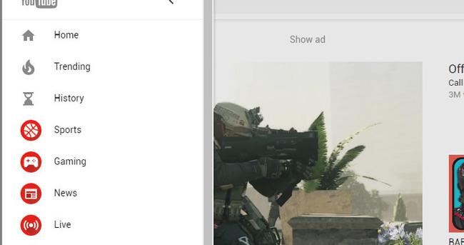 Youtube'a yeni tasarım